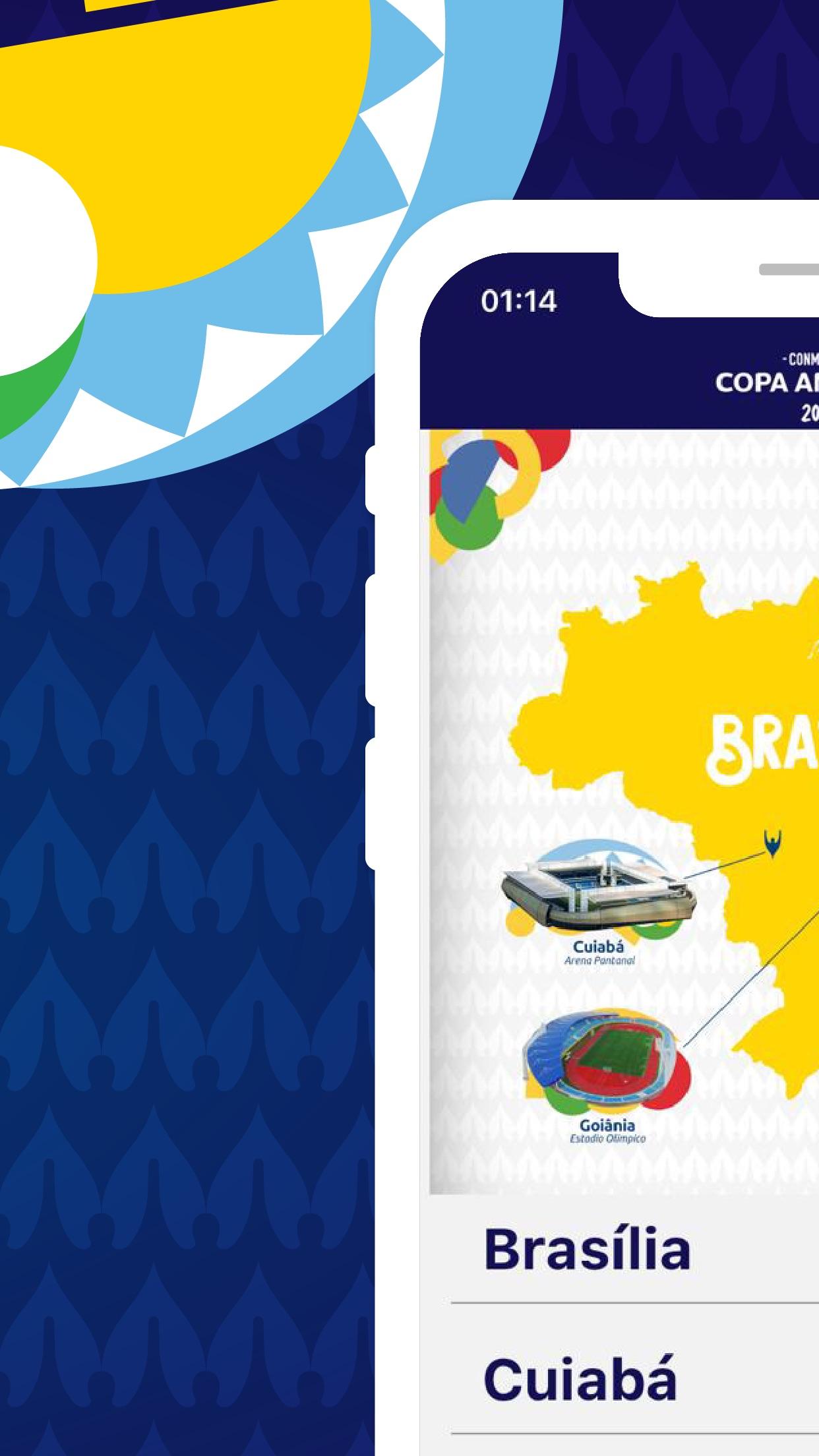 Screenshot do app Copa América Oficial