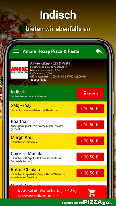 Amore Pizza Donzdorf screenshot 6