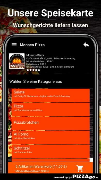 Monaco-Pizza München screenshot 4