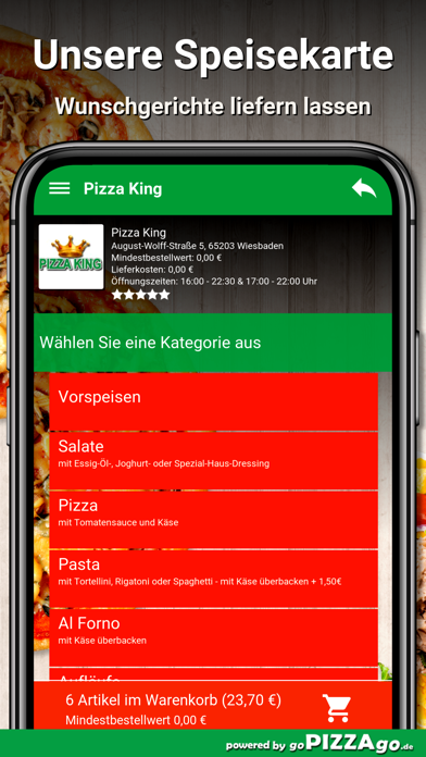 Pizza King Wiesbaden screenshot 4