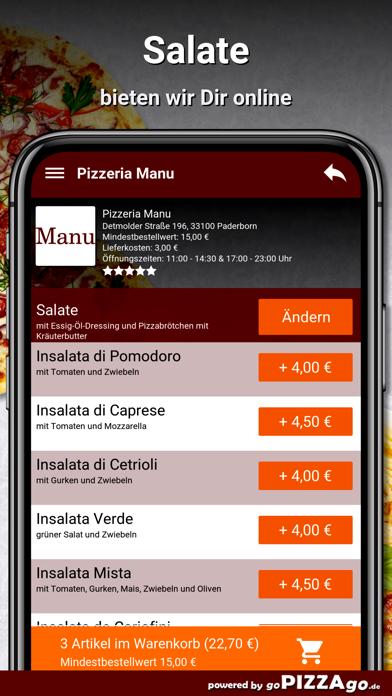 Pizzeria Manu Paderborn screenshot 5