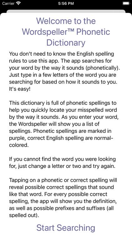 Wordspeller PhoneticDictionary screenshot-4