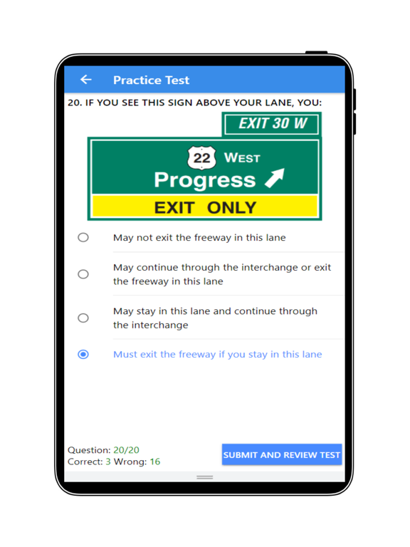 Practice Test USA & Road Signs screenshot 15
