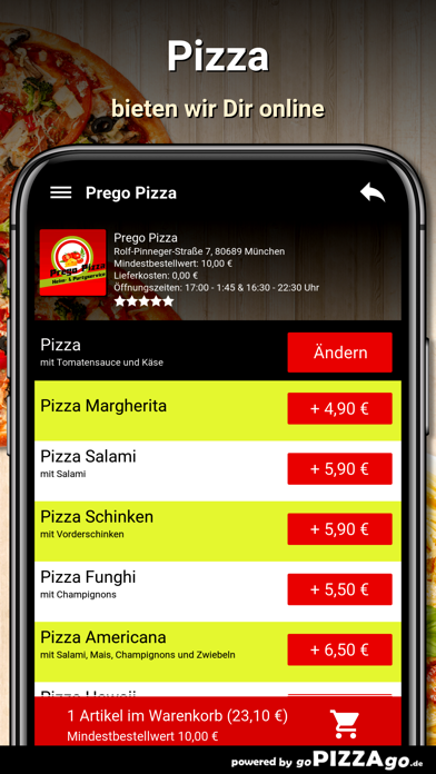 Prego Pizza München screenshot 5