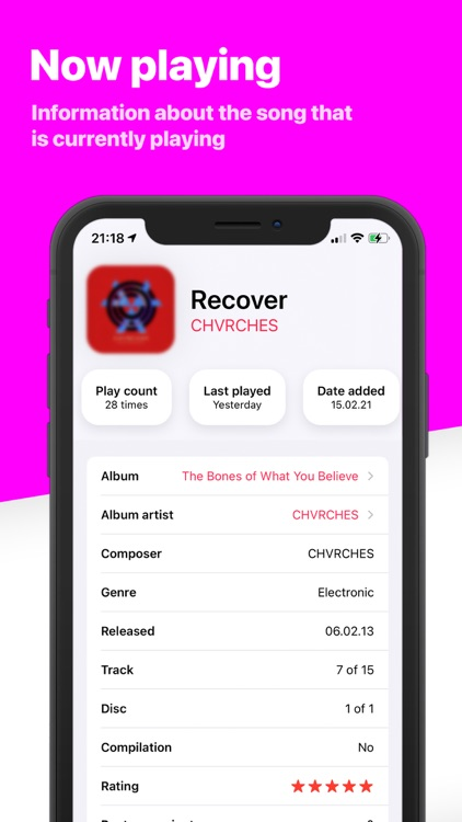 Song Infos - your music stats