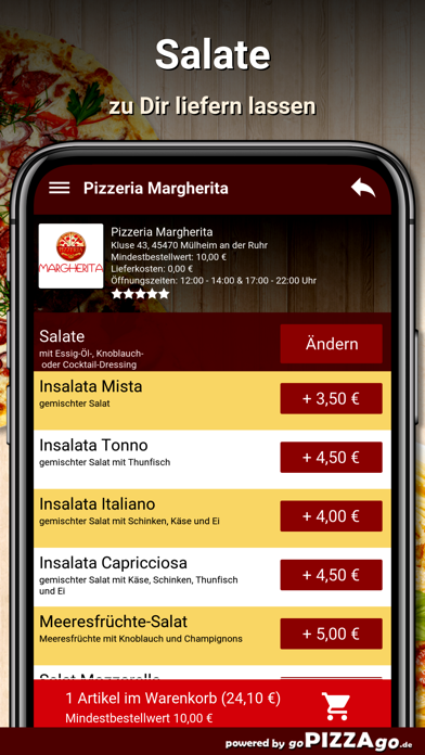 Pizzeria Margherita Mülheim screenshot 5