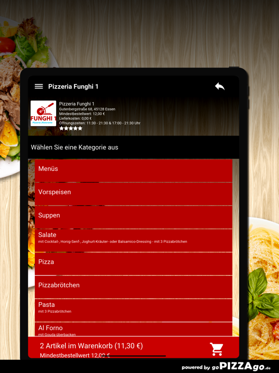 Pizzeria Funghi 1 Essen screenshot 8