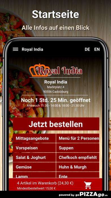 Royal India Cadolzburg screenshot 2