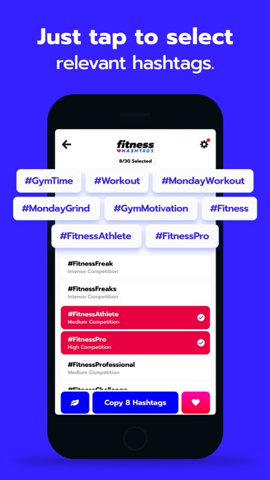 Fitness Hashtags App 4