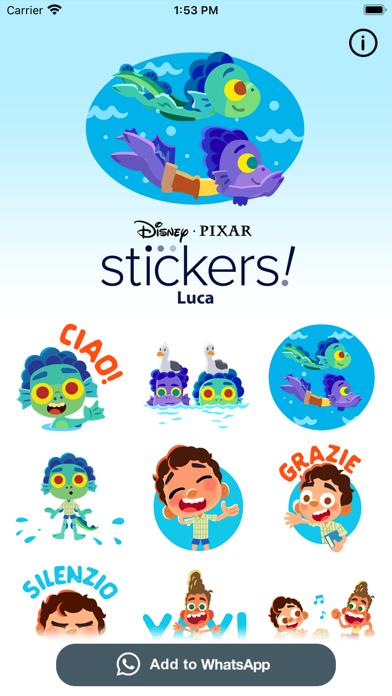 Pixar Stickers: Luca screenshot 1