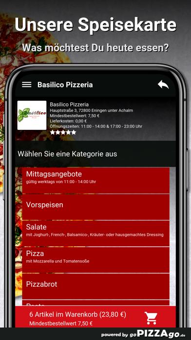 Basilico Pizzeria Eningen unte screenshot 4