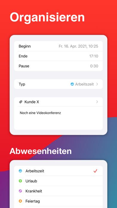 WorkTimes - ZeiterfassungScreenshot von 3