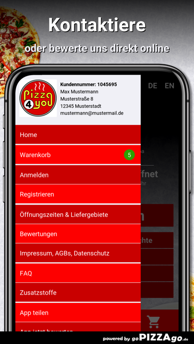 Pizza 4 You Augsburg screenshot 3