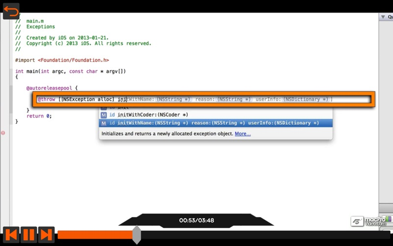 Debugging and Exception Guide for Mac