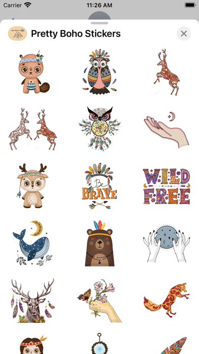 Pretty Boho Stickers screenshot 3