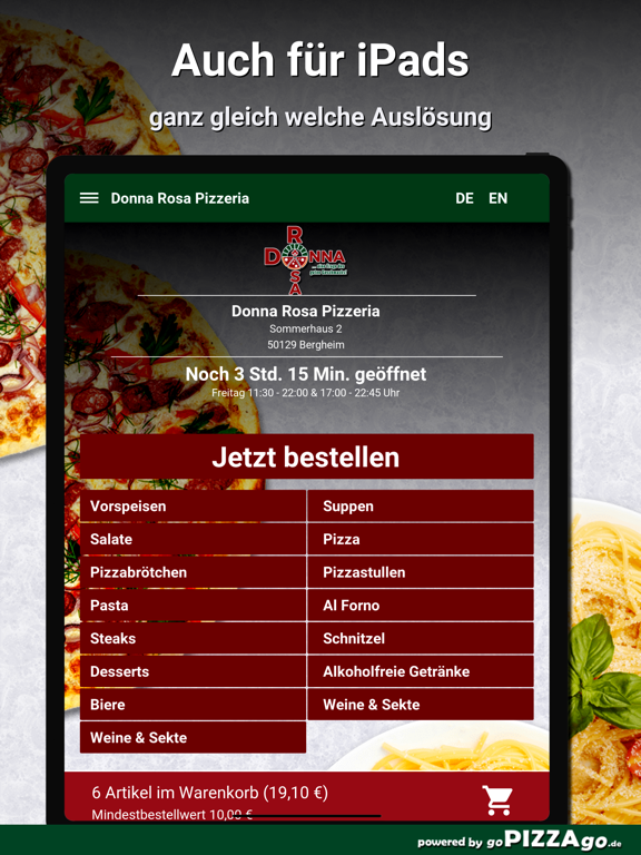 Donna Rosa Pizzeria Bergheim screenshot 7