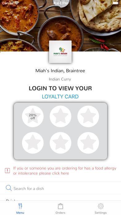 Miah's Indian, Braintree screenshot 1