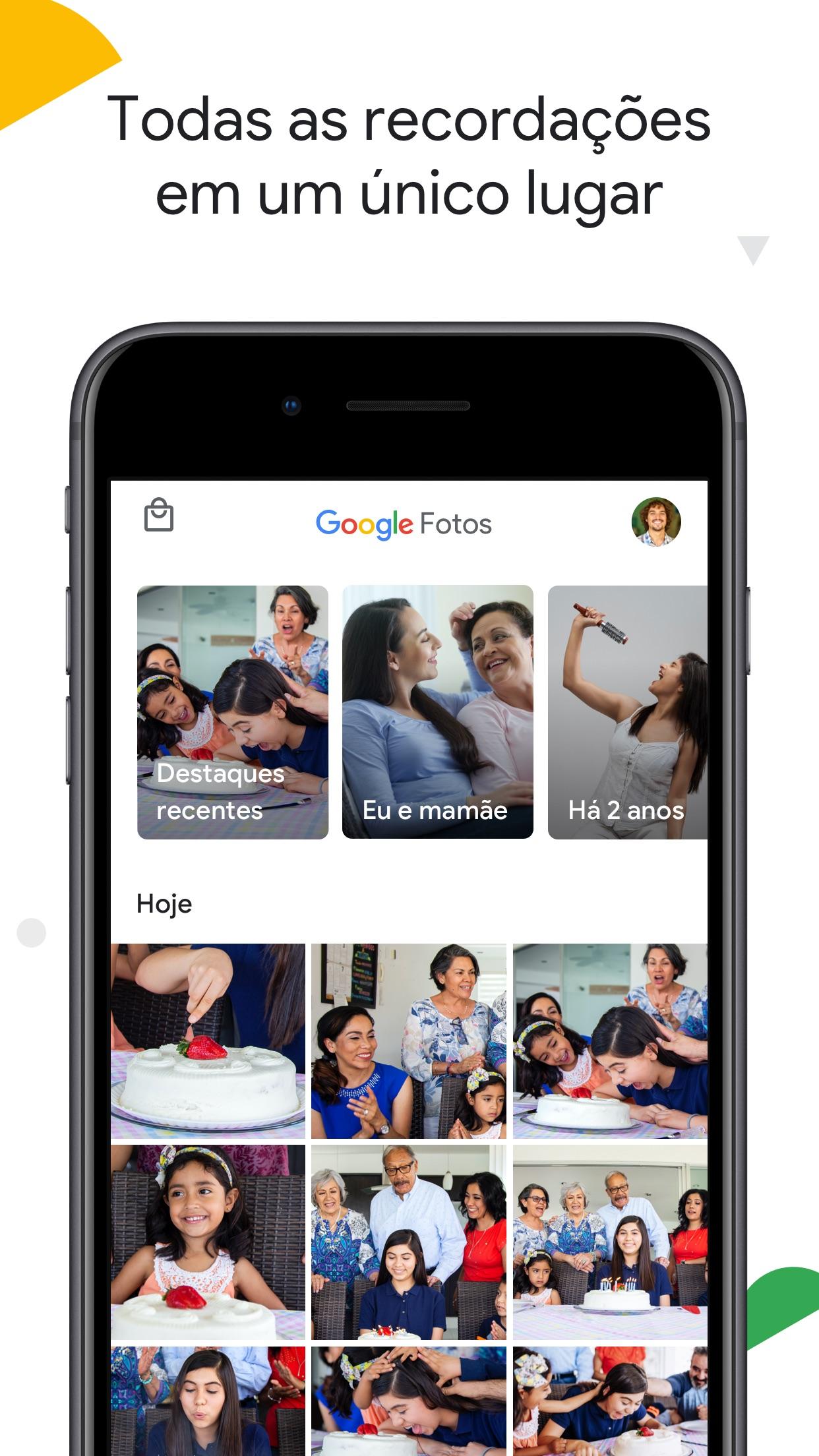 Screenshot do app Google Fotos
