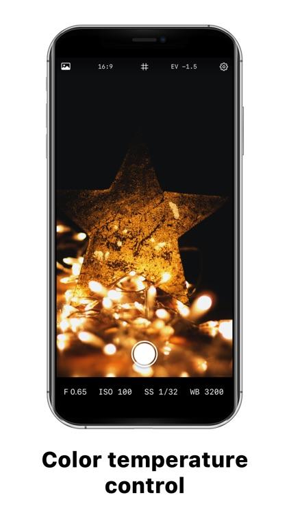 Manual Camera –Focus, ISO, WB