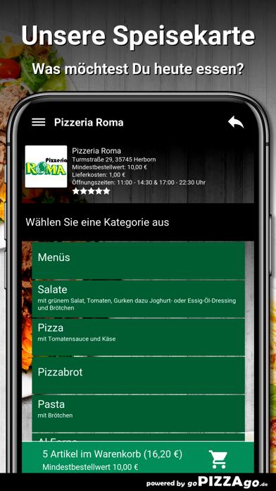 Pizzeria Roma Herborn screenshot 4