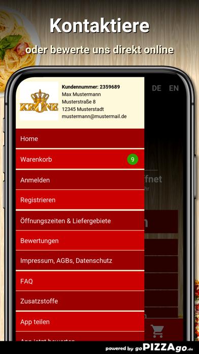 Krone Pizzeria Bilfingen screenshot 3
