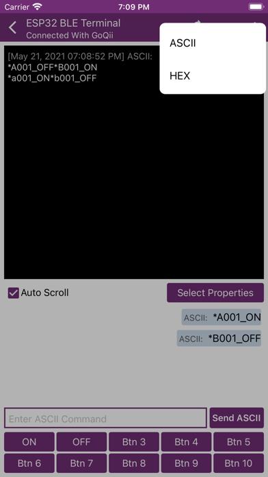 ESP32 BLE Terminal Screenshot
