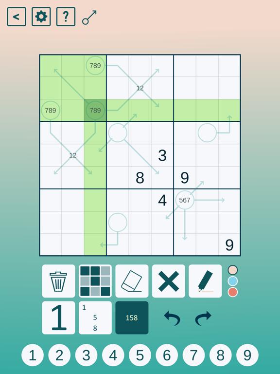 Arrow Sudoku screenshot 6