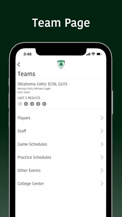 Oklahoma Celtic Soccer screenshot 4