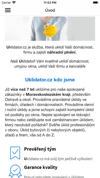Uklidator.cz screenshot 1