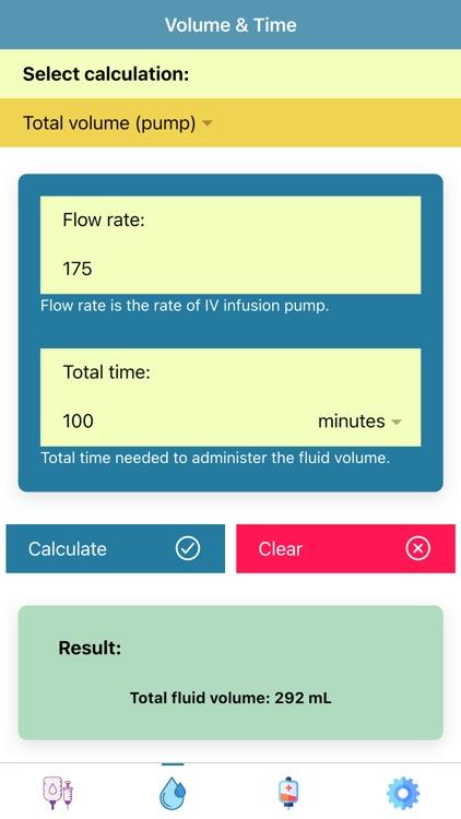 Pocket Infusion Calculator
