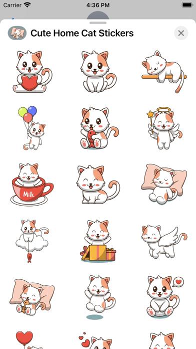 Cute Home Cat Stickers screenshot 3