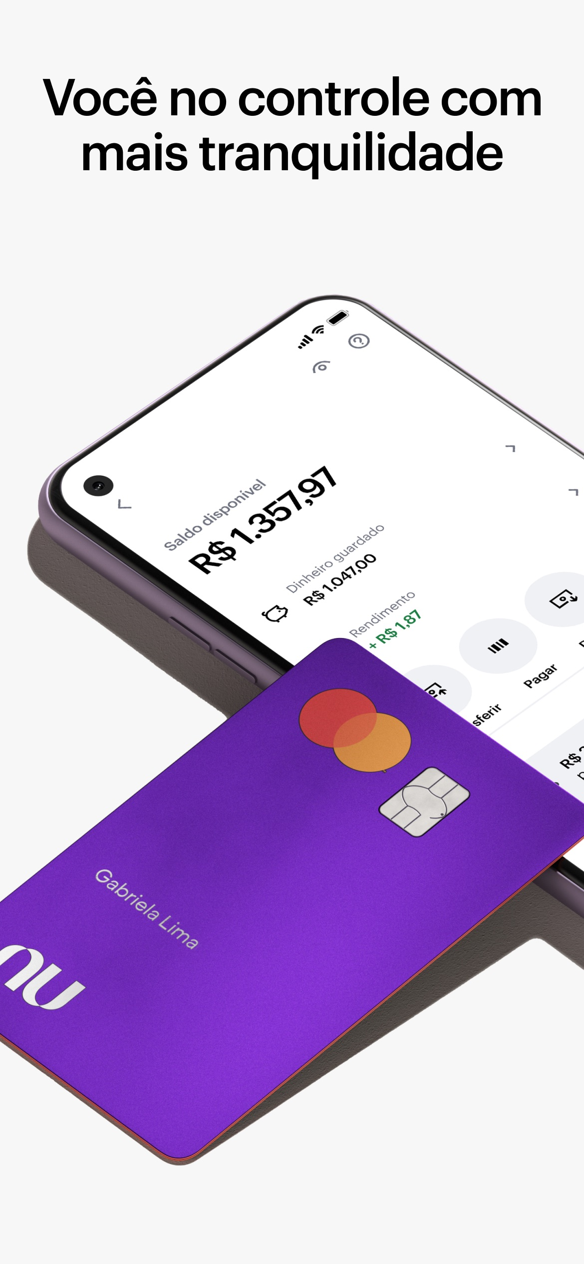 Screenshot do app Nubank - Conta e Cartão