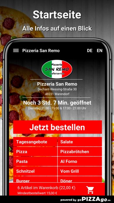 Pizzeria San Remo Warendorf screenshot 2