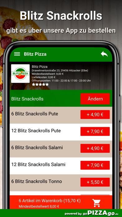 Blitz Pizza Hitzacker (Elbe) screenshot 6