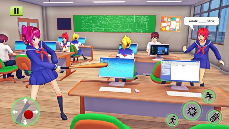 Anime School Girl Life Sim 3D screenshot-7