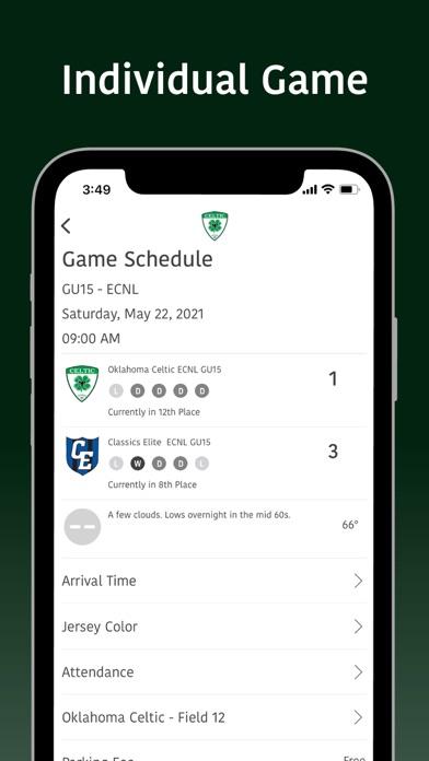 Oklahoma Celtic Soccer screenshot 2