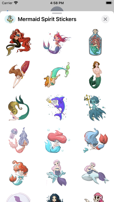 Mermaid Spirit Stickers screenshot 3