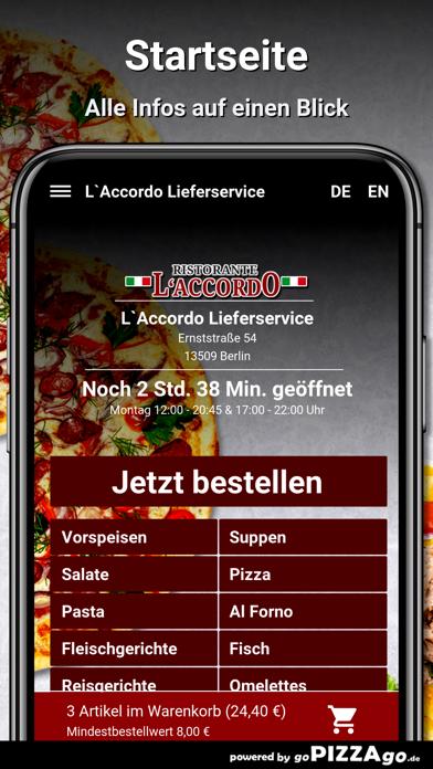 L`Accordo Lieferservice Berlin screenshot 2