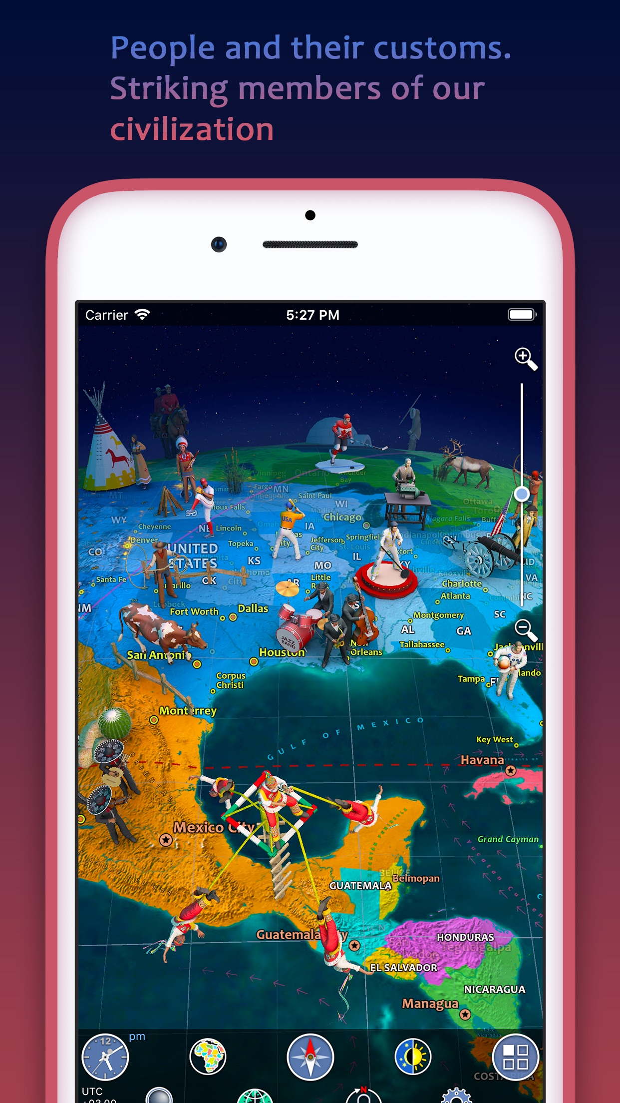 Screenshot do app Earth 3D - World Atlas