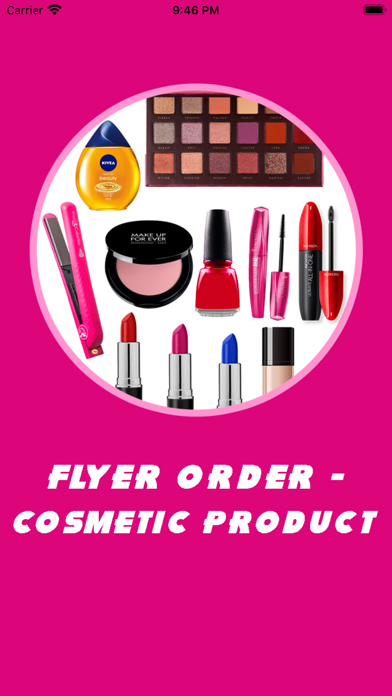 Flyer Order - Cosmetic Product屏幕截图1