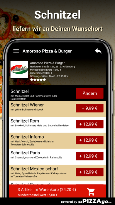 Amoroso Pizza & Burger Oldenbu screenshot 6