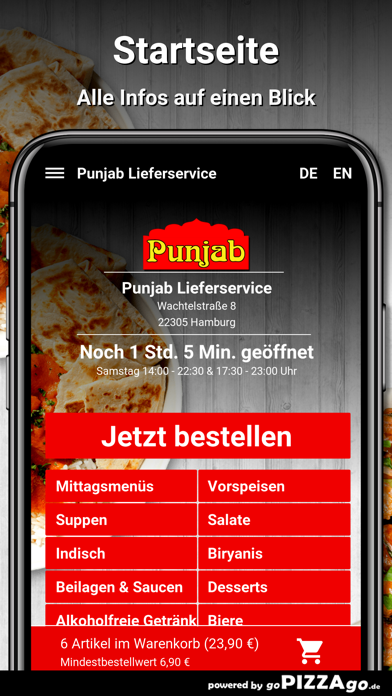 Punjab Lieferservice Hamburg screenshot 2