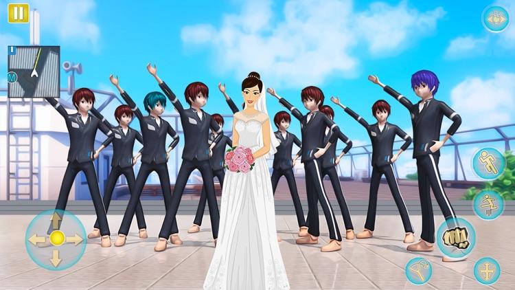 Anime Girl Yandere School Life screenshot-3