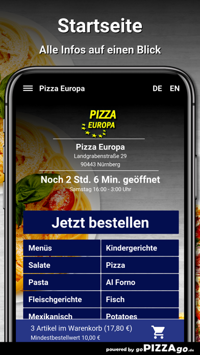 Pizza Europa Nürnberg screenshot 2