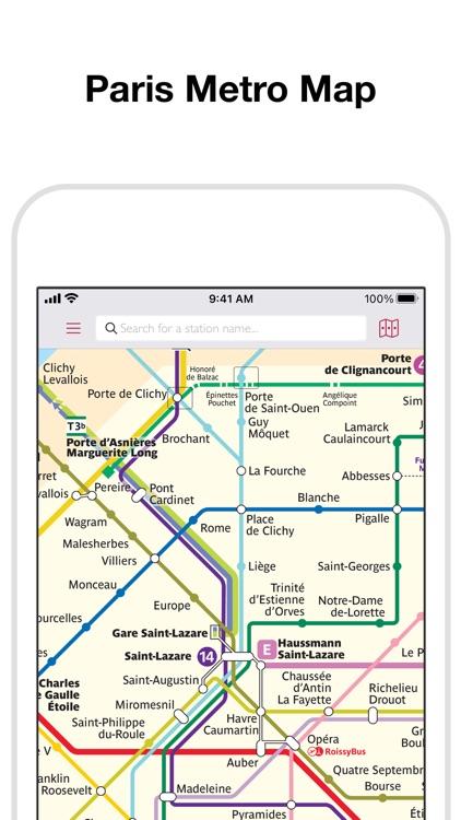 Paris Metro Map and Routes screenshot-0
