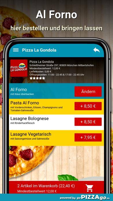 Pizza La Gondola München screenshot 6