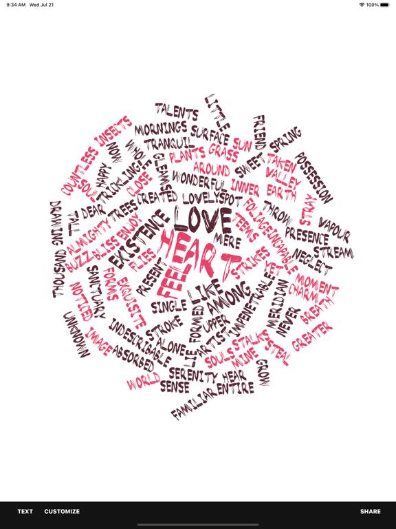 Word Collage Screenshots