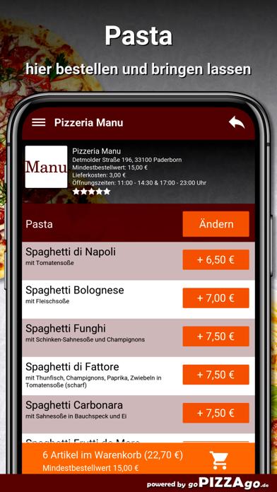 Pizzeria Manu Paderborn screenshot 6