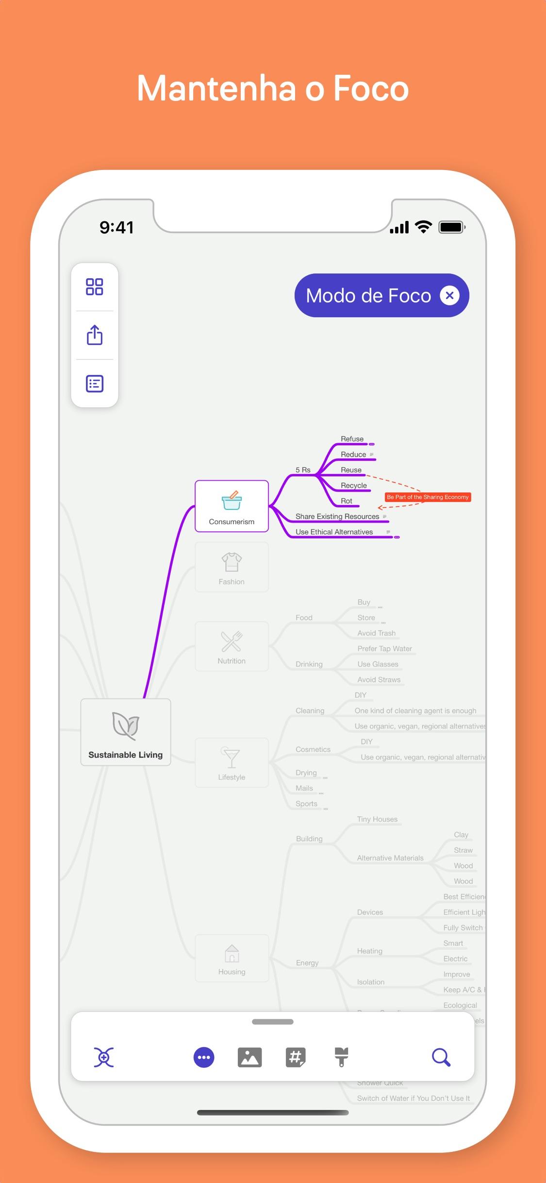 Screenshot do app MindNode - Mind Map & Outline