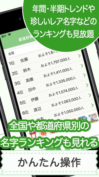 名字由来net 〜全国都道府県ランキングや家紋家系図 ScreenShot5
